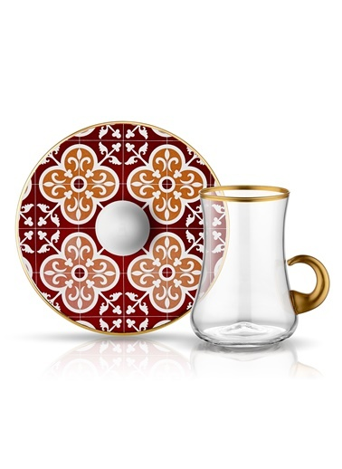 Dervish Kulplu Karo Çay Seti 6lı-Koleksiyon
